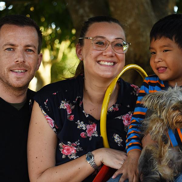 Craig, Amanda and Sam Cunningham